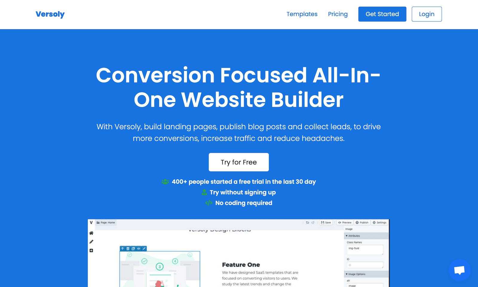 Versoly website builder review