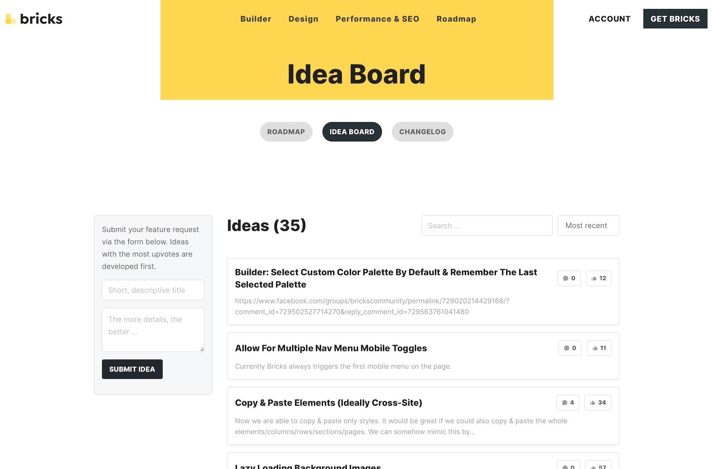 Bricks Idea Board