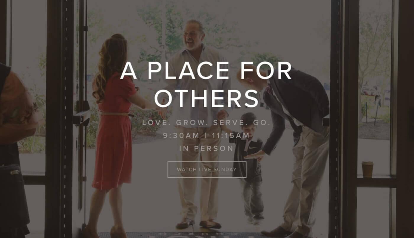 First Church Church website examples