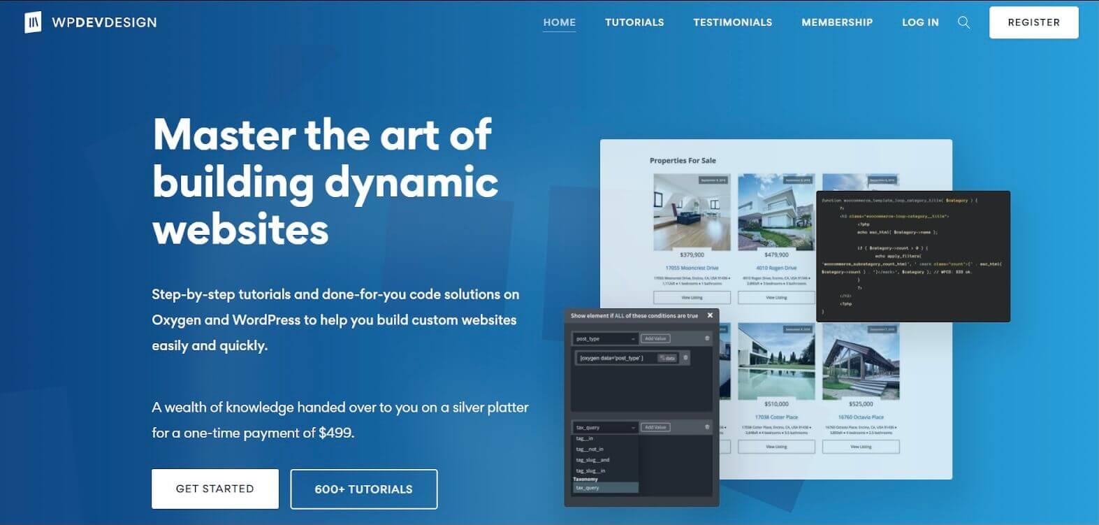WP Dev Design Oxygen Website Example
