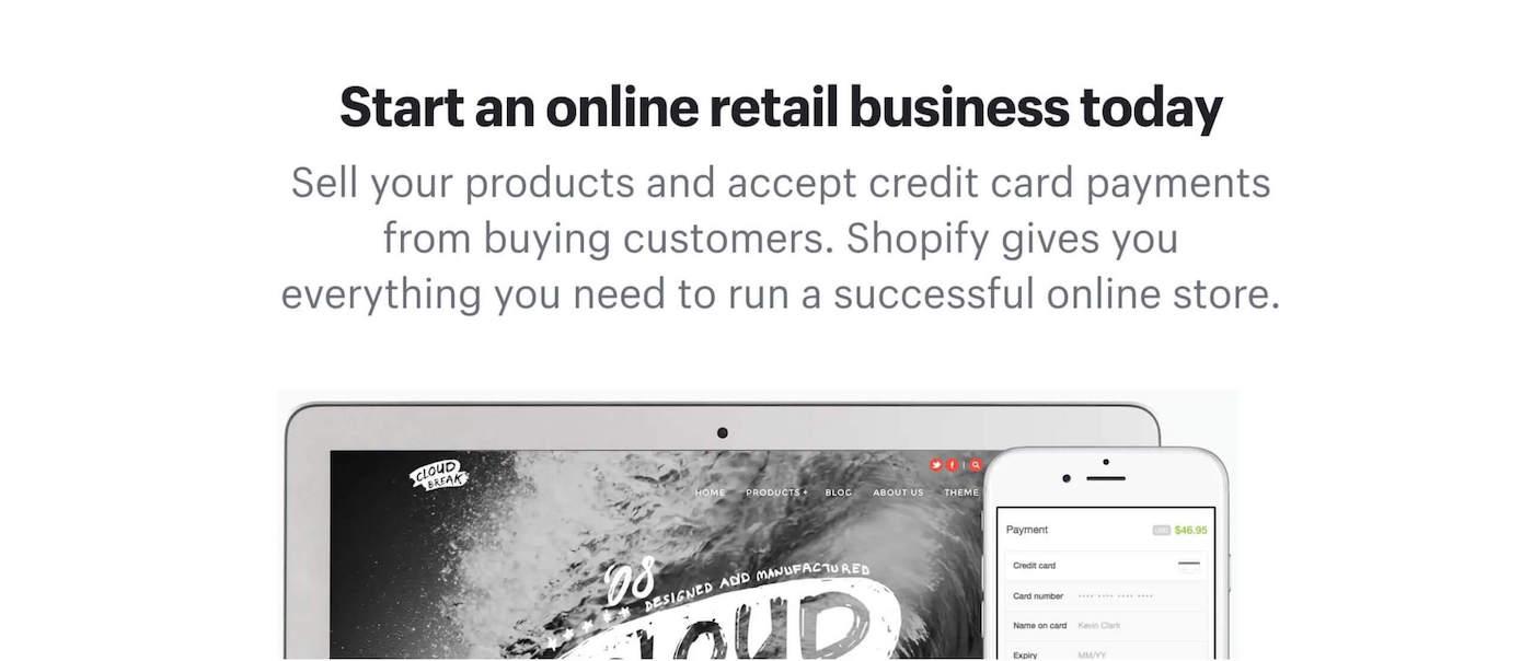 Shopify ecommerce website builders