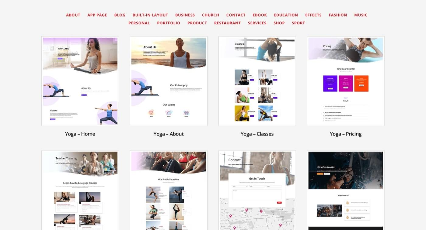 Templates by Themify Builder
